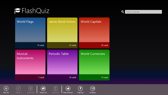FlashQuiz for Windows 8