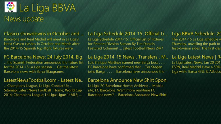 La liga bbva for windows 8 and 8 1 - La liga latest results and table ...