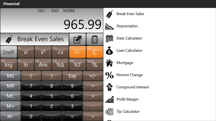 Financial Calculator (with 10 worksheets)