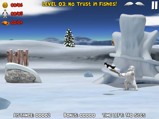 Tap or click to swing yeti's club