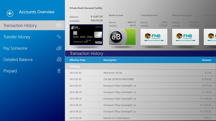 RMB Banking App for Windows 8 and 8.1