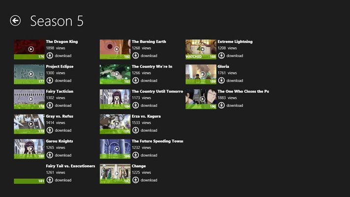 Episodes List