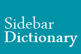 Sidebar Dictionary