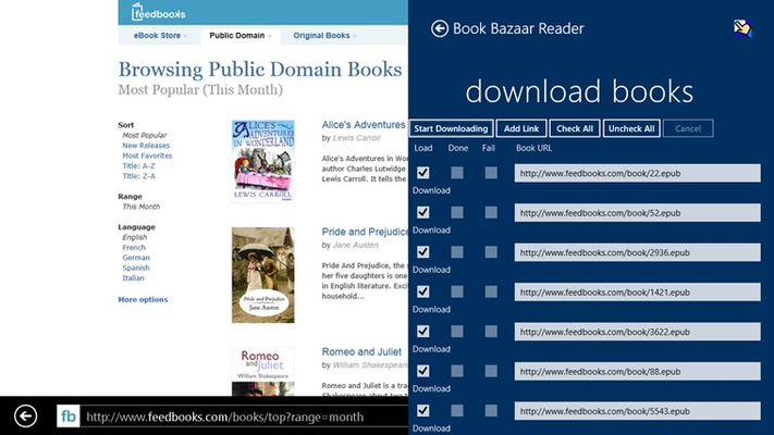 Book Bazaar Reader for Windows 8