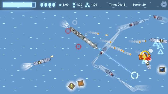 Battling speedboats!