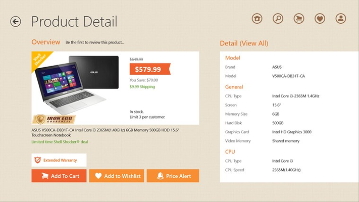 Newegg for Windows 8