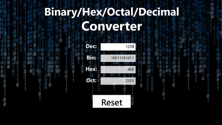 Convert binary data to hex c