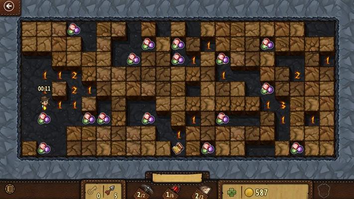 Search for hidden treasure-laden bonus rooms.