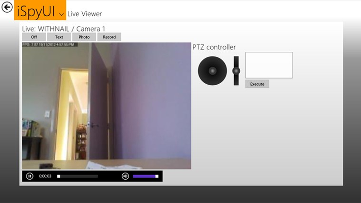 Live View/ Audio with PTZ controls