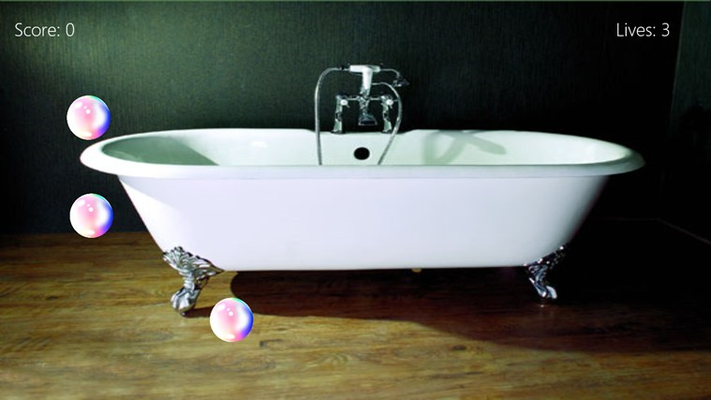 Pop the bubbles before they escape and ruin your bath.