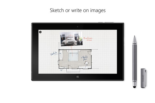 Sketch or write on images