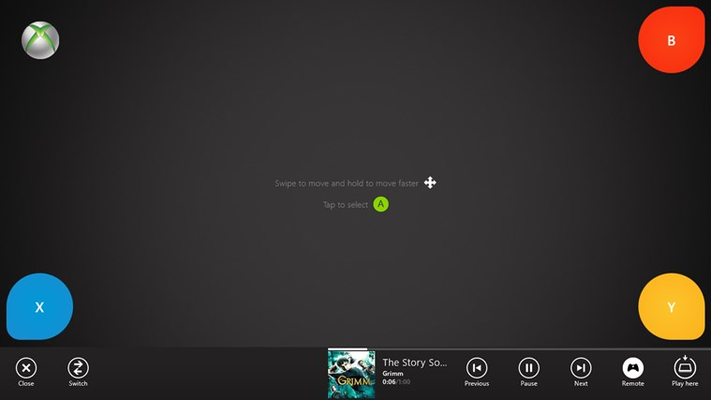 Xbox controls using SmartGlass technology