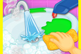 Princess Bathroom Clean up - Toilet Games for Kids