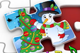 Kids Christmas Jigsaw Puzzles - educational game for preschool children 3+