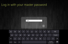 Log in with the master password