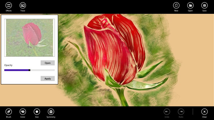Anyone can make a Work of Art! Use the Trace feature to transform a photo to a nice looking drawing.