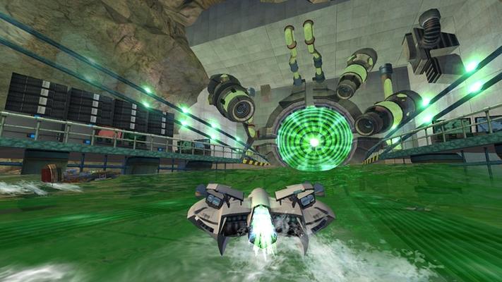 Plunge through an alien portal hidden inside Area 51.