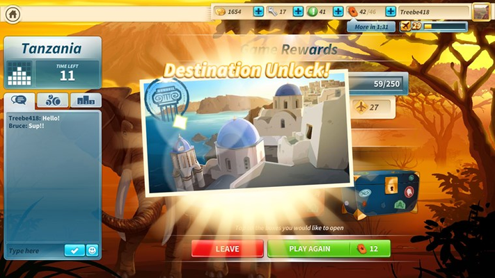 Unlock new travel destinations with your Flight Points to play your way around the world!