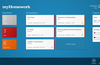 myHomework home shows your classes and late/upcoming assignments.