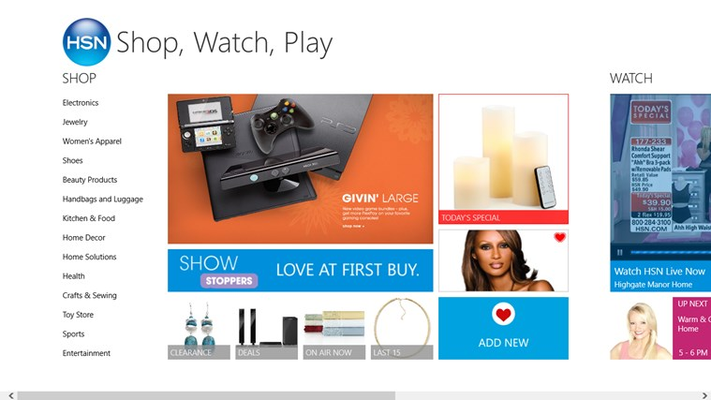 HSN - Shop, Watch, Play for Windows 8