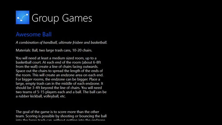 Group Games for Windows 8