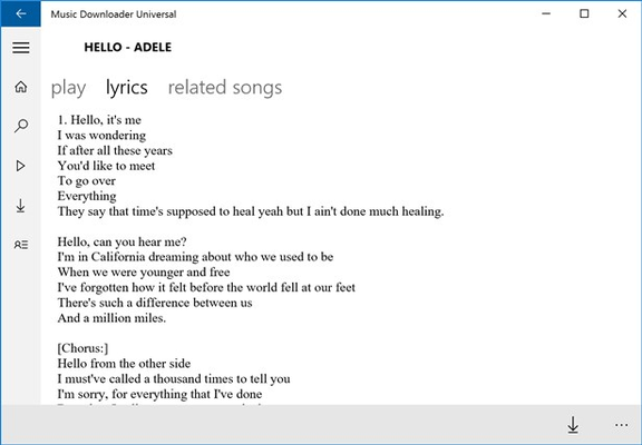 Music Downloader Universal for Windows 8