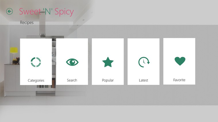 Recipe landing page that gives you options to browse , search and view by choice