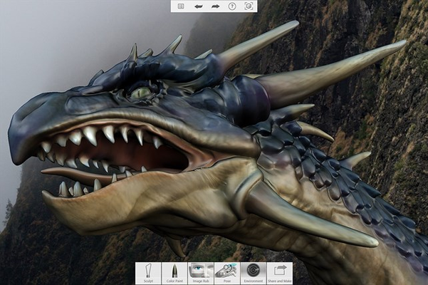123D Sculpt+ has all the tools needed to create amazing 3D artwork entirely from scratch right on your tablet.
