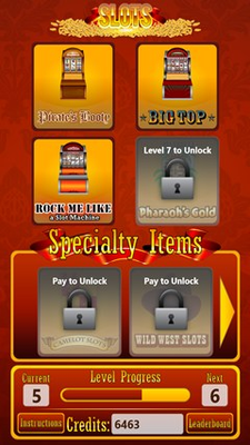 With each new level, unlock another machine or minigame!
