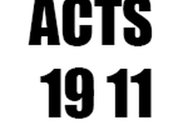 Acts 19 11