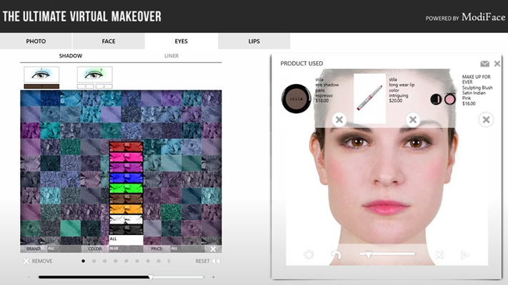Find your shade by filtering and sorting the makeup palettes!