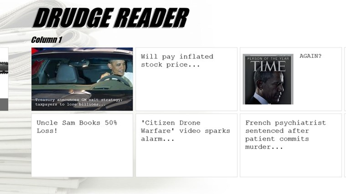 "Multiple ""Columns"" just like the drudge site"