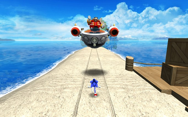 Battle Sonic's arch-nemesis Dr. Eggman
