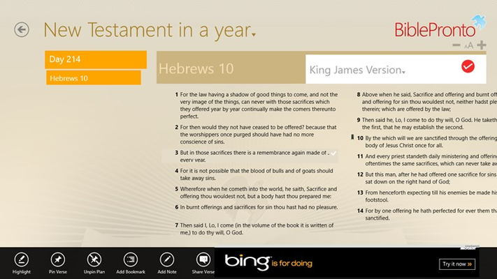 Bible Reading Plan View