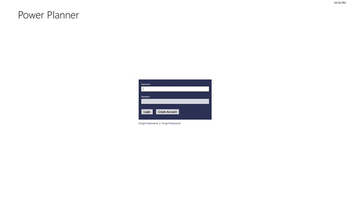 The login page, where you can use an online or local account.