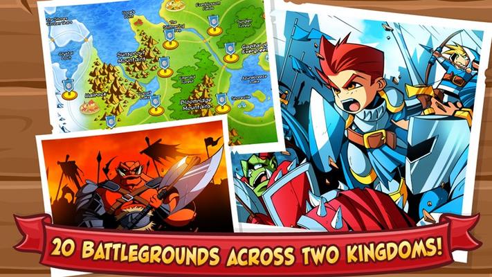 20 battlegrounds across two kingdoms!