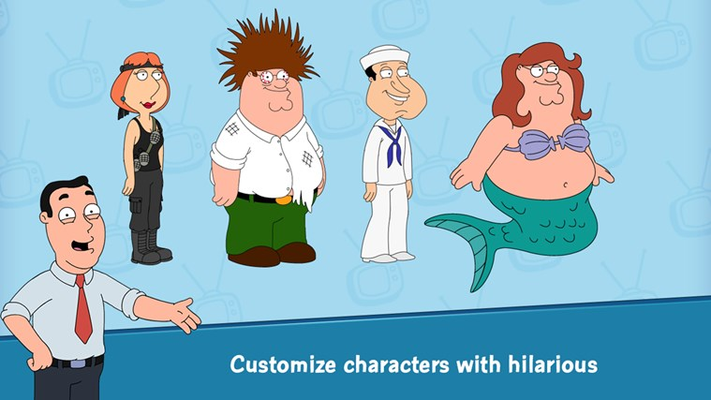 Customize characters with hilarious outfits