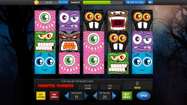 Spooky Monster Madness slots now available with more being added all the time!