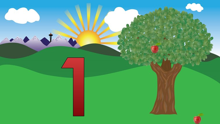 Learn the numbers 1-9  and understand the concept of counting.