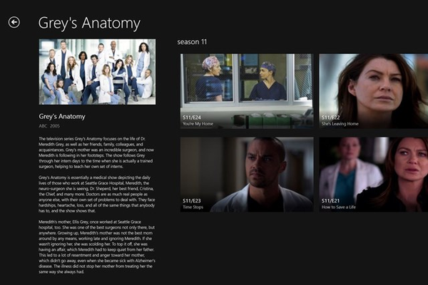 Browse Episode of a TV Show