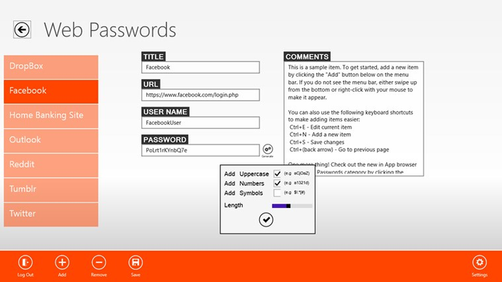 Generate strong and secure passwords everytime