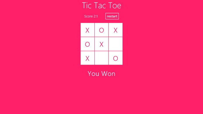 The Classic Tic Tac Toe - You Win