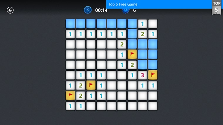 The classic game of Minesweeper updated for Windows 8.