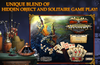 Enjoy a unique combination of hidden object and solitaire