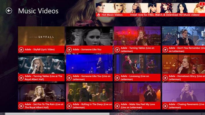 Avril Lavigne Videos for Windows 8