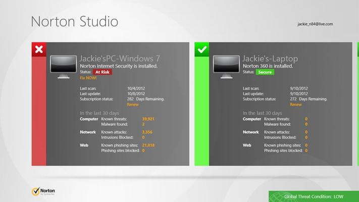 Norton Studio for Windows 8