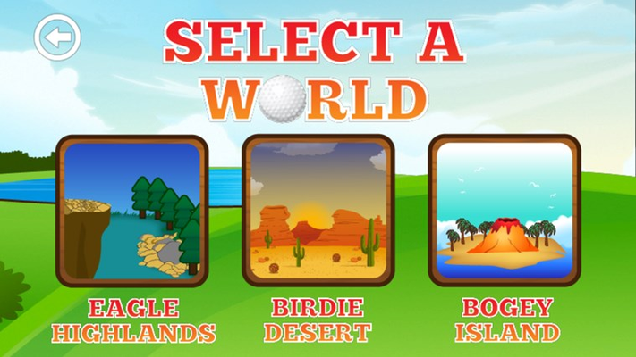 Golf across 72 holes spread across 8 courses and 3 unique worlds.