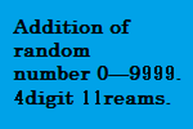 4digits 11reams addition