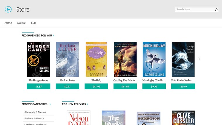 Kobo eBooks for Windows 8