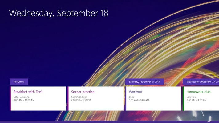 Mail, Calendar, and People for Windows 8